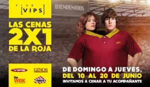 Club Vips 2x1 en Cenas