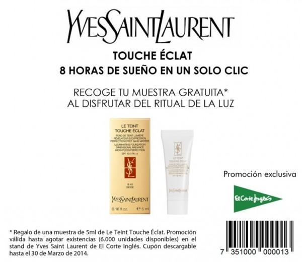 Muestras gratis Le Teint Touche Eclat de Yves Saint Laurent