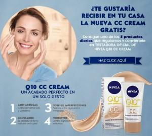 Regalan 5 Productos De Nivea Q10 CC Cream Cada Día Gratis