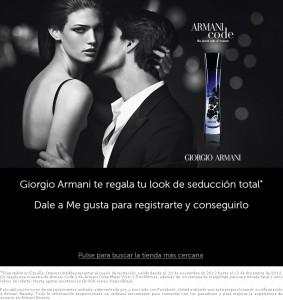Muestras Gratis Perfumes Armani Code y Armani Code Mujer