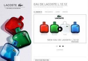 Muestras Gratis Perfumes Lacoste