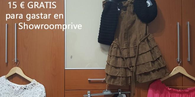 Regalan 15 € GRATIS para gastar en Showroomprive