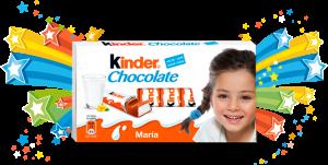 etiquetas personalizadas adhesivas kinder chocolate